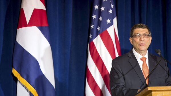Cuban Foreign Minister Bruno Rodriguez speaks during a ceremony to reopen the Cuban embassy in Washington, July 20, 2015. - Sputnik Việt Nam