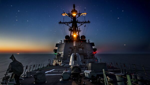 Tàu khu trục tên lửa Donald Cook của Mỹ. - Sputnik Việt Nam
