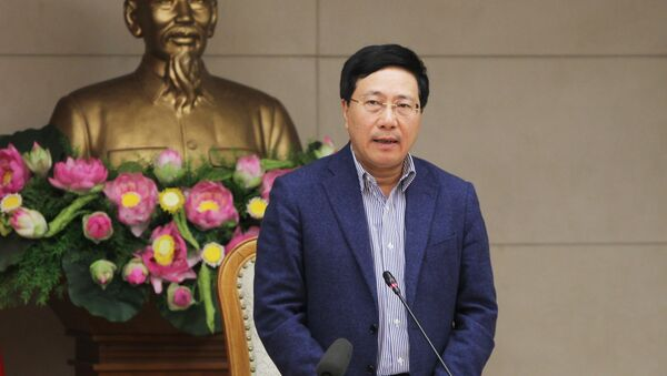 Phó Thủ tướng, Bộ trưởng Bộ Ngoại giao Phạm Bình Minh phát biểu chỉ đạo các đơn vị phối hợp chuẩn bị tổ chức Hội nghị thượng đỉnh Mỹ - Triều Tiên lần 2. - Sputnik Việt Nam