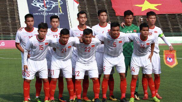 Đội hình ra sân của U22 Việt Nam. - Sputnik Việt Nam