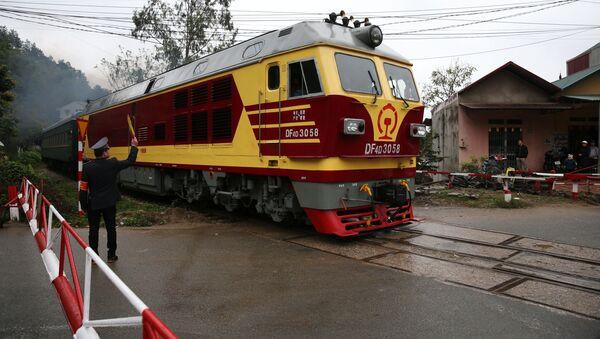 Chuyến tàu chở nhà lãnh đạo CHDCND Triều Tiên Kim Jong-un đến Việt Nam - Sputnik Việt Nam