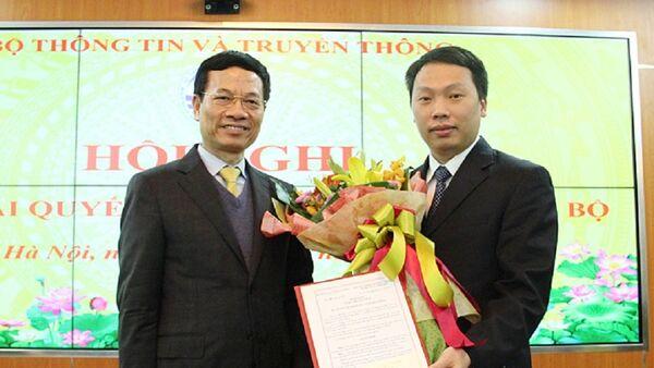 Bộ trưởng Nguyễn Mạnh Hùng giao nhiệm vụ phụ trách Cục An toàn thông tin cho ông Nguyễn Huy Dũng - Sputnik Việt Nam
