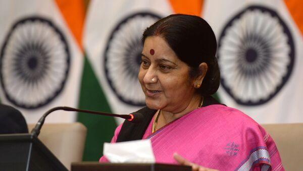 Ngoại trưởng Ấn Độ Sushma Swaraj - Sputnik Việt Nam