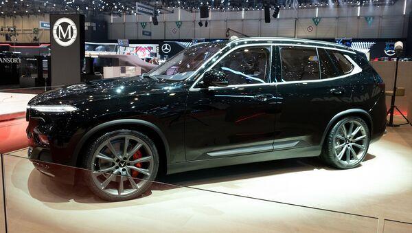 Ra mắt xe hơi VinFast Lux V8 tại Geneva Motor Show - Sputnik Việt Nam