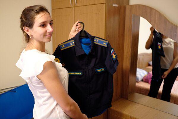 Nữ học viên trong doanh trại Trường không quân cao cấp đào tạo phi công Krasnodar - Sputnik Việt Nam