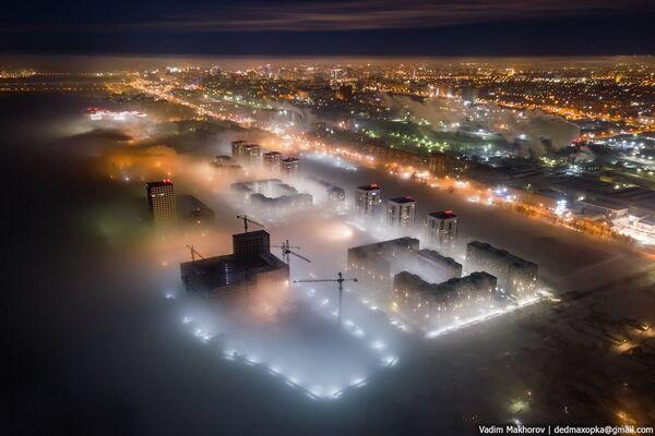 Sương mù giăng trên thành phố Novosibirsk - Sputnik Việt Nam