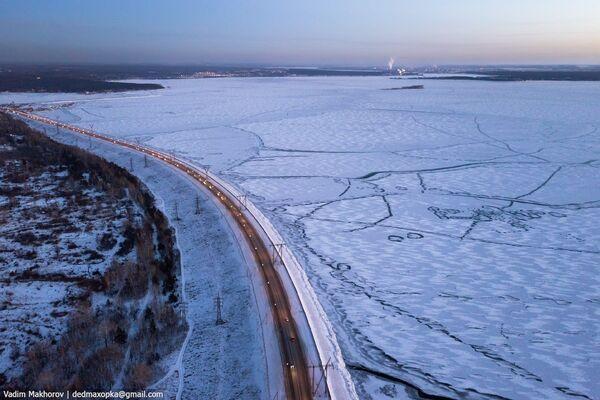 Quang cảnh hồ chứa nước của nhà máy thủy điện Novosibirsk - Sputnik Việt Nam
