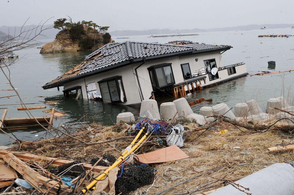 9 ngày sau trận động đất và sóng thần năm 2011 tại Nhật Bản