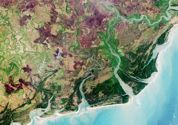 Đồng bằng sông Zambezi chụp từ vũ trụ - Sputnik Việt Nam