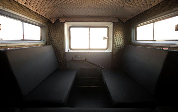 Salon hành khách trong xe Krechet - Sputnik Việt Nam