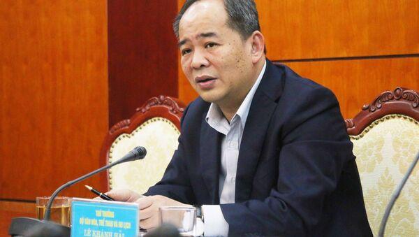 Thứ trưởng Bộ VHTTDL Lê Khánh Hải chủ trì buổi làm việc. - Sputnik Việt Nam