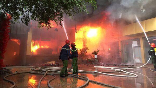 Nghệ An: Cháy lớn tại trung tâm thành phố Vinh - Sputnik Việt Nam
