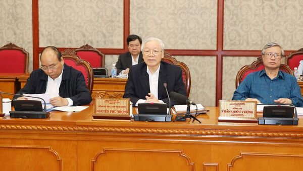 Tổng Bí thư, Chủ tịch nước Nguyễn Phú Trọng phát biểu. - Sputnik Việt Nam