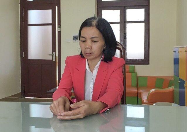 Đối tượng Bùi Kim Thu là vợ của đối tượng Bùi Văn Công bị bắt trước đó.