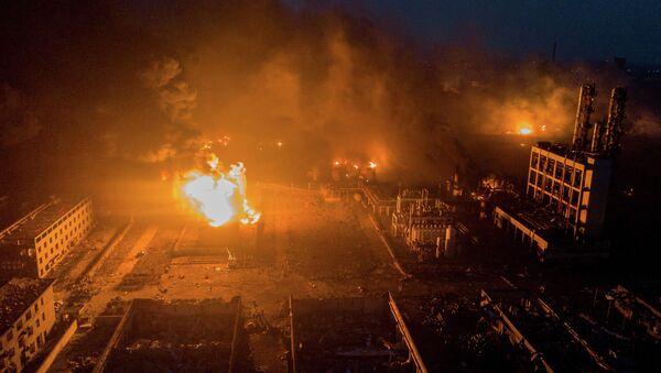 vụ nổ tại nhà máy hóa chất ở Trung Quốc - Sputnik Việt Nam