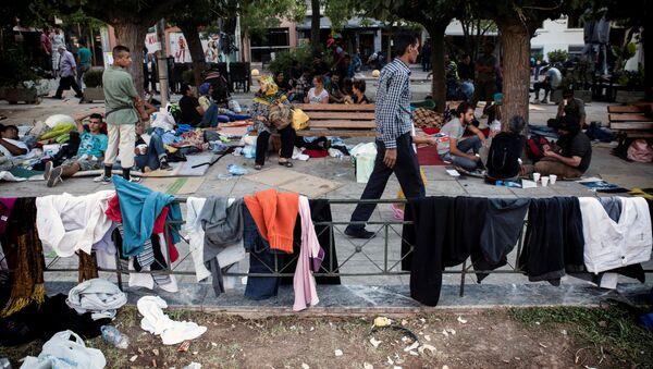 Người tị nạn Trung Đông ở Athens. - Sputnik Việt Nam