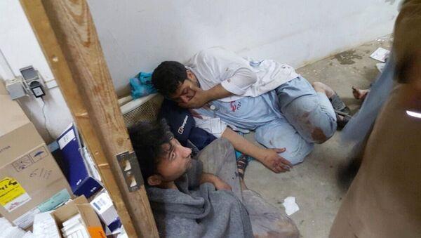 Nạn nhân của vụ bắn phá vào bệnh viện thành phố Kunduz, Afghanistan - Sputnik Việt Nam