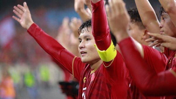 Vòng loại Giải vô địch bóng đá U23 châu Á 2020: Thắng U23 Thái Lan 4 – 0, U23 Việt Nam dẫn đầu bảng K, giành suất chính thức dự vòng chung kết - Sputnik Việt Nam