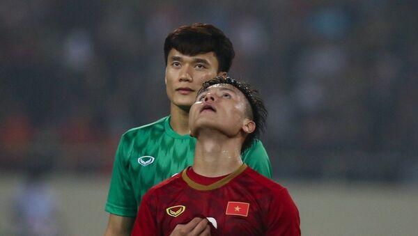 Đội trưởng Nguyễn Quang Hải đã có một trận đấu xuất sắc, xứng đáng với vai trò nhạc trưởng của U23 Việt Nam. ọng  - Sputnik Việt Nam