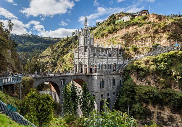 Cầu cạnh nhà thờ Las Lajas ở Colombia - Sputnik Việt Nam