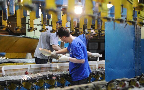 Phân xưởng chế tạo cánh quạt của nhà máy Rostvertol - Sputnik Việt Nam