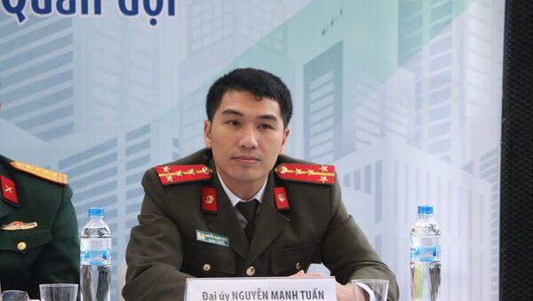 Đại úy Nguyễn Mạnh Tuấn, Trợ lý tuyển sinh Cục Đào tạo (Bộ Công an) - Sputnik Việt Nam