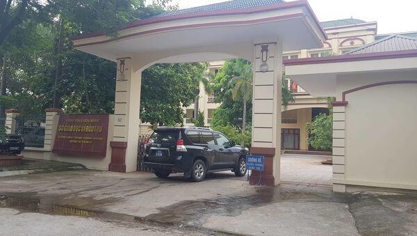 Lực lượng công an có mặt tại sở Giáo dục và Đào tạo tỉnh Hòa Bình. - Sputnik Việt Nam