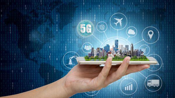 Hình ảnh của một thành phố thông minh sử dụng hệ thống mạng 5G - Sputnik Việt Nam