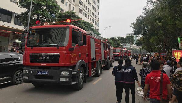 Cháy tại tầng 32 chung cư HH Linh Đàm, khói đen bốc nghi ngút khiến nhiều người hoảng sợ - Sputnik Việt Nam
