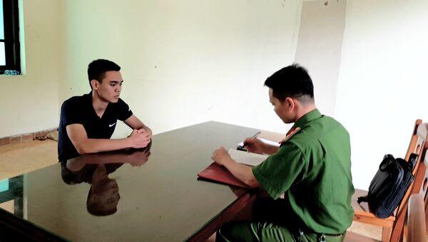 Vũ Văn Hiếu tại cơ quan công an - Sputnik Việt Nam