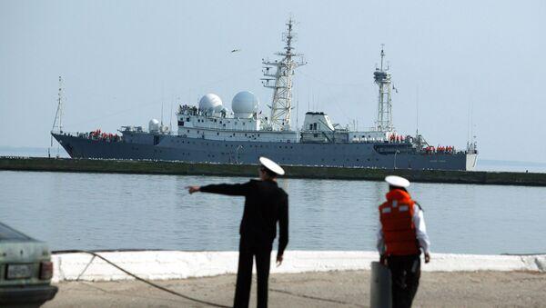 """Tàu trinh sát """"Vasily Tatishchev"""" ở quân cảng Baltiysk - Sputnik Việt Nam"""