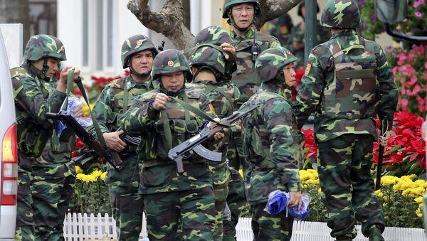Quân đội Việt Nam bảo vệ nghiêm ngặt Ga Đồng Đăng trước Hội nghị Thượng đỉnh Mỹ Triều - Sputnik Việt Nam