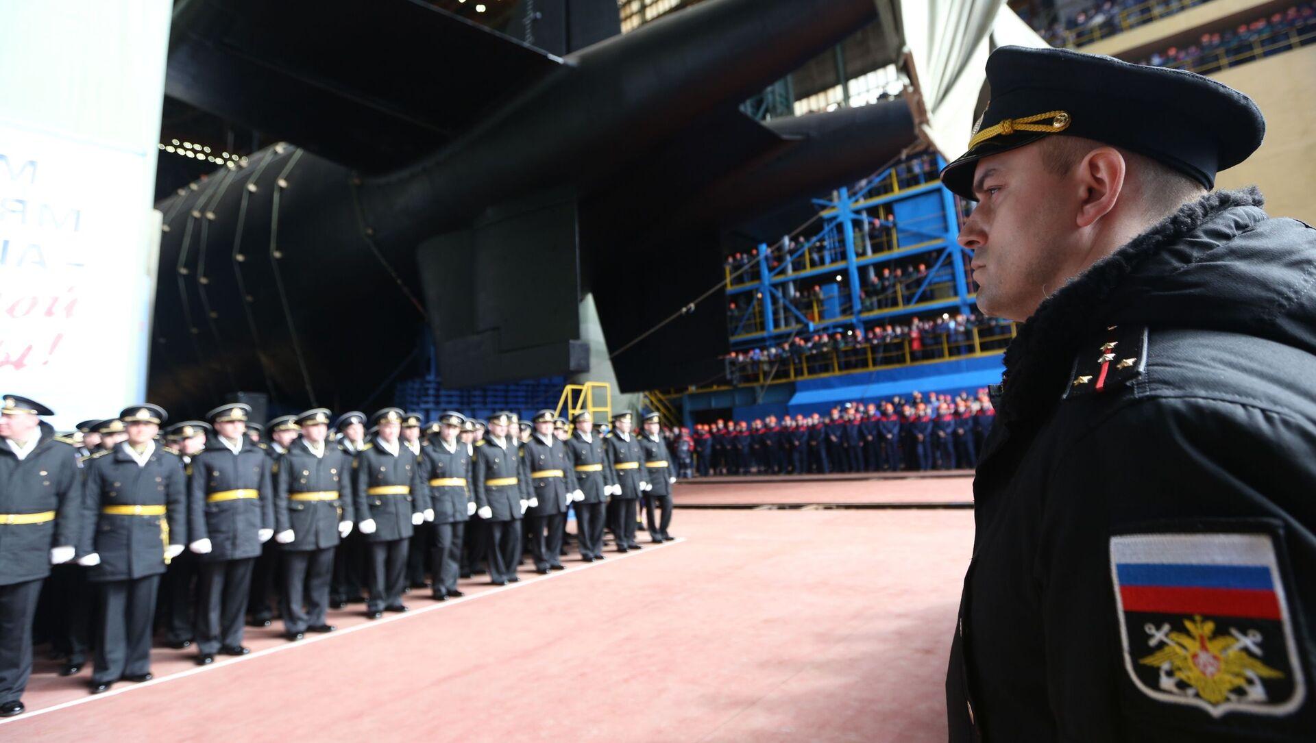 Hạ thủy tàu ngầm hạt nhân Belgorod ở vùng Arkhangelsk - Sputnik Việt Nam, 1920, 05.04.2021
