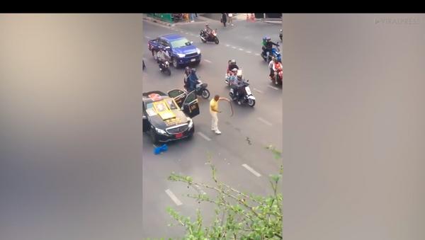 Người nước ngoài thả cả bao rắn độc ở trung tâm Bangkok (Video) - Sputnik Việt Nam