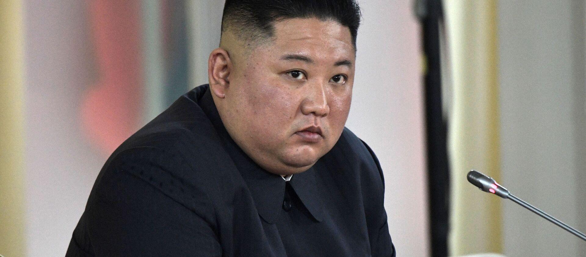 Nhà lãnh đạo Triều Tiên Kim Jong-un. - Sputnik Việt Nam, 1920, 09.04.2021