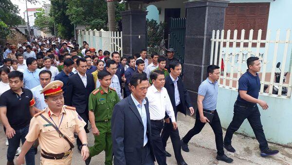 Chủ tịch Chung về làm việc với dân Đồng Tâm - Sputnik Việt Nam