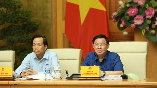 Phó Thủ tướng Vương Đình Huệ phát biểu tại cuộc họp.  - Sputnik Việt Nam