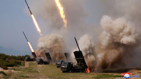 Tập trận ở Bắc Triều Tiên  - Sputnik Việt Nam