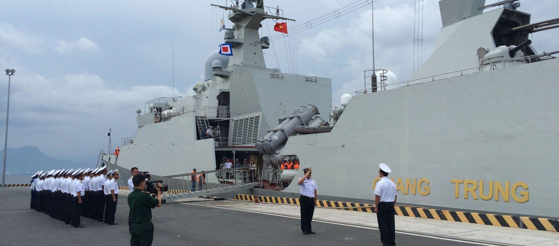 Đoàn Hải quân Việt Nam cùng Tàu hộ vệ 016 Quang Trung tham gia Diễn tập ADMM+ và dự Triển lãm IMDEX 2019 tại Singapore - Sputnik Việt Nam, 1920, 20.08.2021