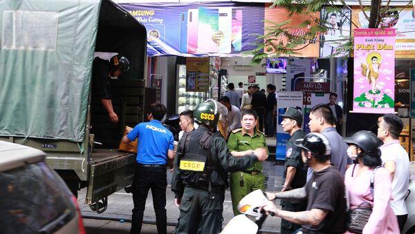 Cục Cảnh sát điều tra tội phạm về tham nhũng kinh tế buôn lậu (C03), Bộ Công an đã khám xét toàn bộ hệ thống cửa hàng điện thoại Nhật Cường Mobile - Sputnik Việt Nam