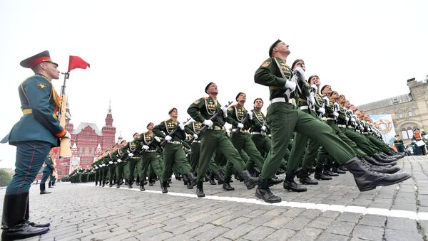 Сuộc diễu hành quân sự dành riêng cho Chiến thắng trong Thế chiến II. - Sputnik Việt Nam