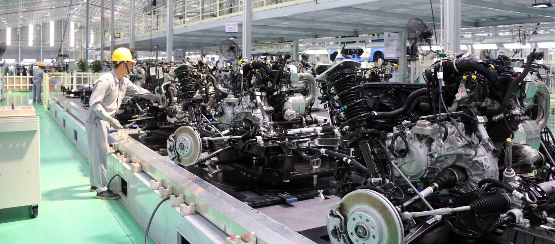 Nhà máy xe du lịch cao cấp của Thaco được đầu tư 4.500 tỷ đồng trên diện tích 7,5 ha với công suất 20.000 xe/năm. - Sputnik Việt Nam, 1920, 27.06.2019