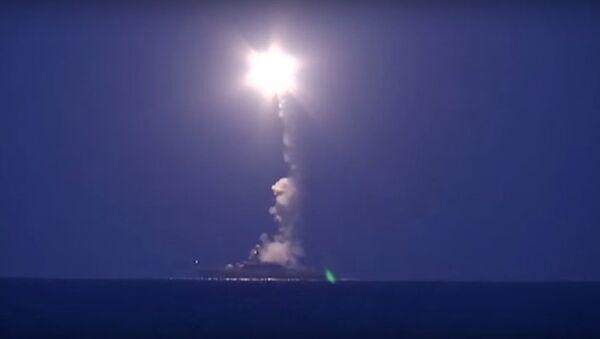 Bộ Quốc phòng Nga đã tiến hành bắn phá đối tượng IS từ biển - Sputnik Việt Nam