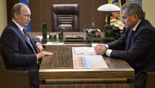 Sergei Shoigu và Vladimir Putin - Sputnik Việt Nam