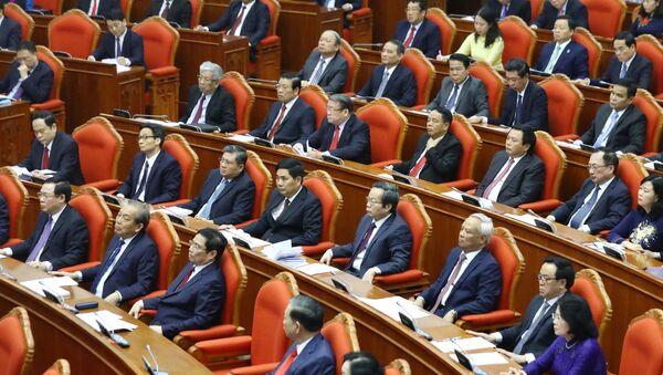 Các đồng chí lãnh đạo Đảng, Nhà nước và các đại biểu dự Hội nghị.  - Sputnik Việt Nam