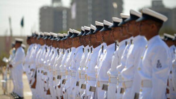 Binh sĩ Hải quân Ấn Độ trong lễ khai mạc Căn cứ Hải quân Sardar Patel ở Porbander cách thành phố Ahmedabad khoảng 400 km - Sputnik Việt Nam