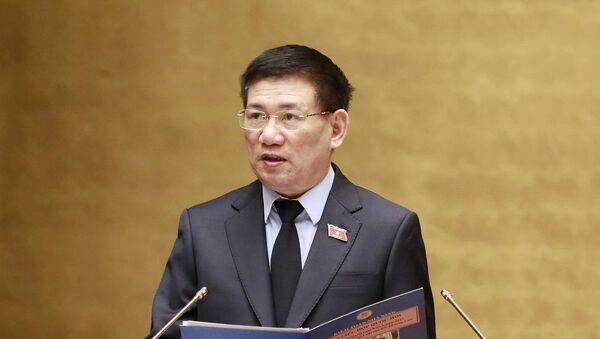 Tổng Kiểm toán Hồ Đức Phớc trình bày báo cáo tại phiên họp chiều 23-5 - Sputnik Việt Nam