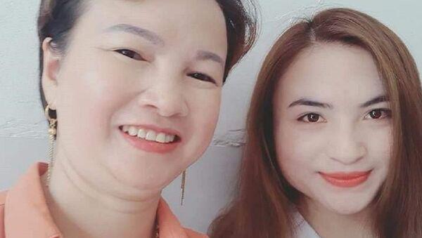 Bà Trần Thị Hiền và con gái Cao Thị Mỹ Duyên - Sputnik Việt Nam