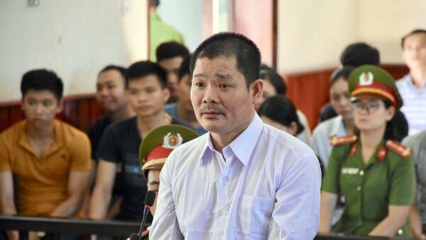 Bị cáo Lê Quốc Bình tại phiên tòa xét xử sơ thẩm.  - Sputnik Việt Nam