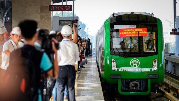 Đường sắt Cát Linh - Hà Đông do tổng thầu Trung Quốc thực hiện đã nhiều lần chậm tiến độ. - Sputnik Việt Nam